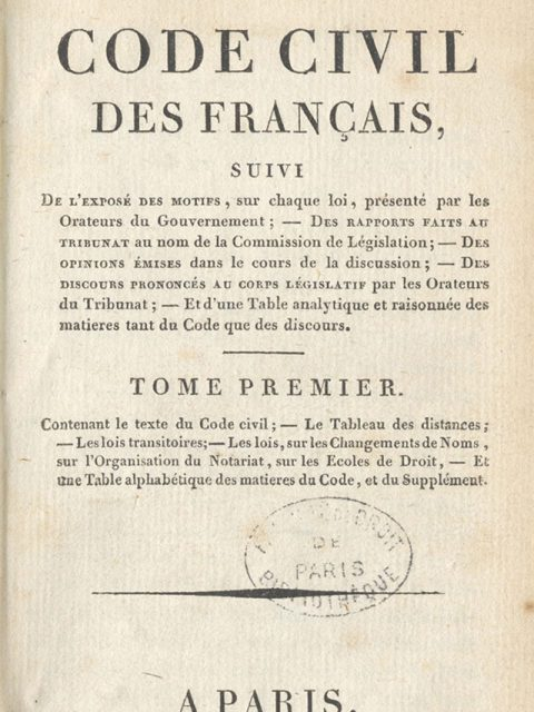 Code civil, édition de Firmin Didot, 1804