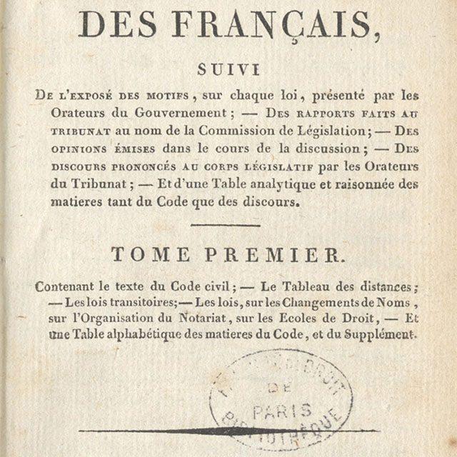 Code civil, édition de Firmin Didot, 1804