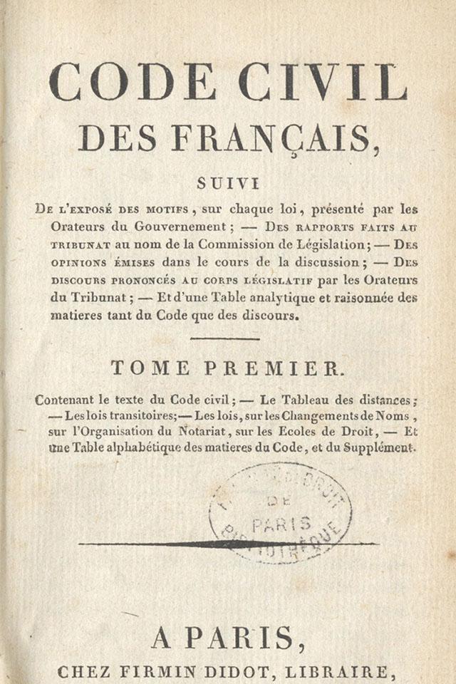 Code civil de 1804.